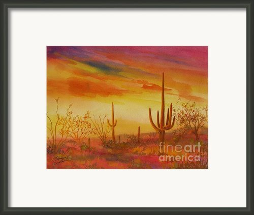 Orange Sunset Framed Print By Summer Celeste