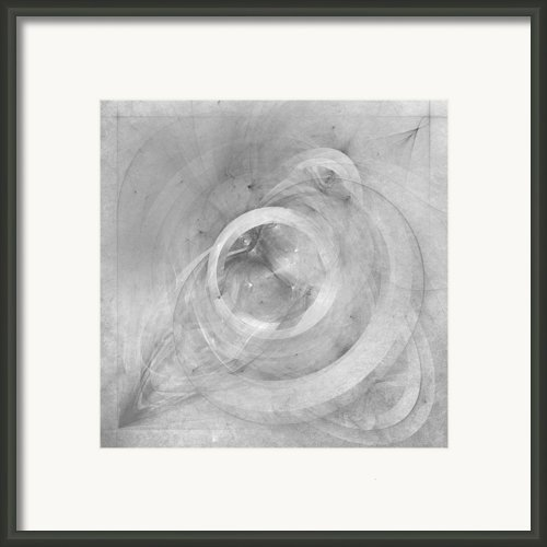 Orbit Monochrome Framed Print By Scott Norris