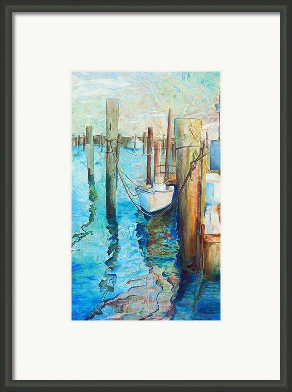 Oregon Inlet Framed Print By Arlissa Vaughn