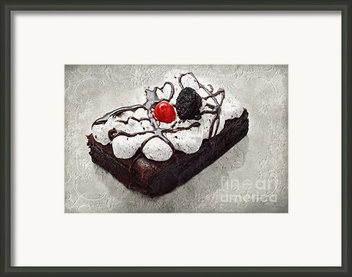 Oreo Cherry Brownie Cake Framed Print By Andee Photography