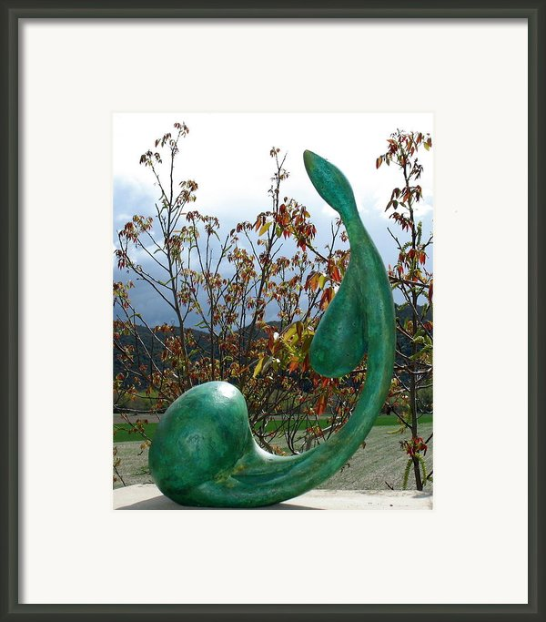 Organic 3 Framed Print By Flow Fitzgerald