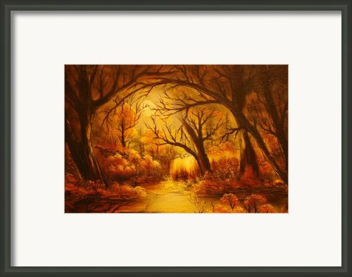 Original Sold-hot Forest- Private Collection- Buy Giclee Print Nr 44  Framed Print By Eddie Michael Beck