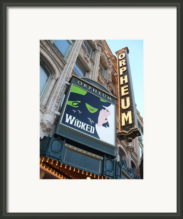 Orpheum Sign Framed Print By Carol Groenen