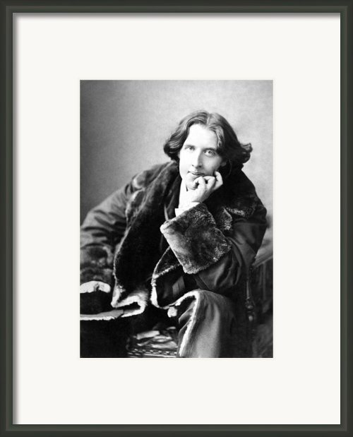 Oscar Wilde In His Favourite Coat 1882 Framed Print By Napoleon Sarony
