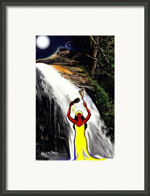 Oshun -goddess Of Love-2 Framed Print By Carmen Cordova