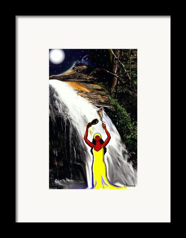 Oshun -goddess Of Love-2 Framed Print By Carmen Cordova