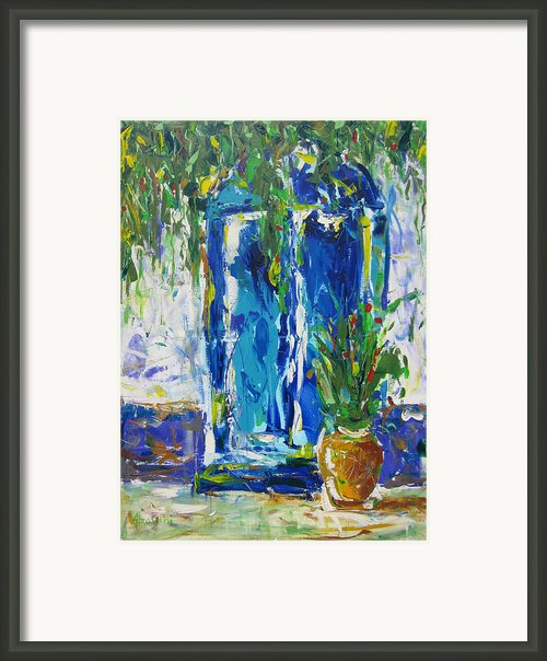 Our Blue Door Framed Print By Khalid Alzayani