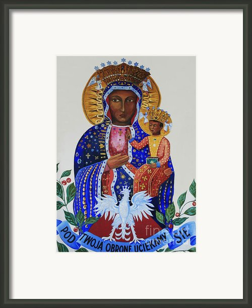 Our Lady Of Czestochowa Framed Print By Barbara Mcmahon