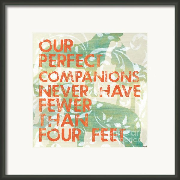 Our Perfect Companion Framed Print By Debbie Dewitt