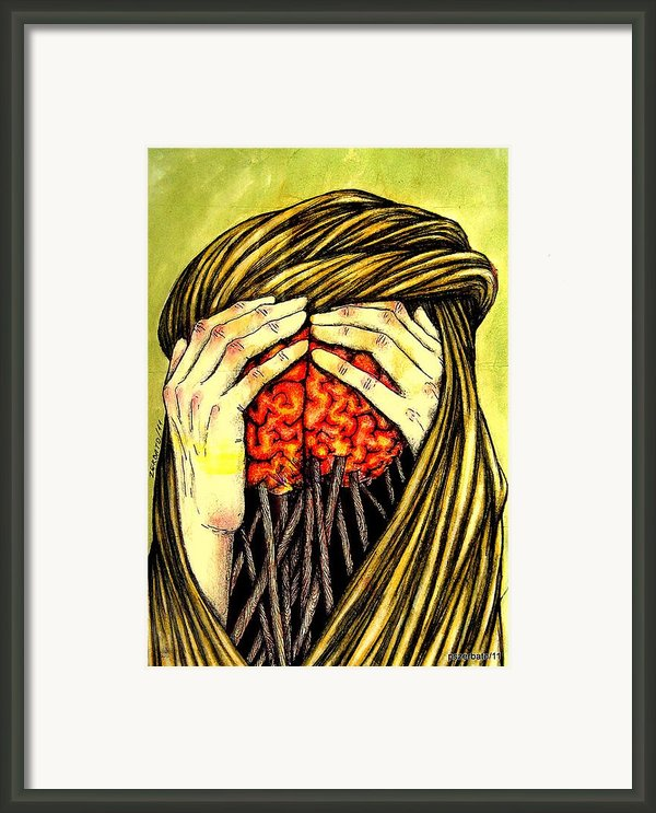 Our Torments Does Not Comes From Outside Are Spiked In Our Memory Framed Print By Paulo Zerbato