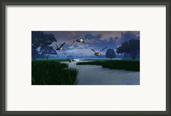 Out Of The Storm Framed Print By Dieter Carlton