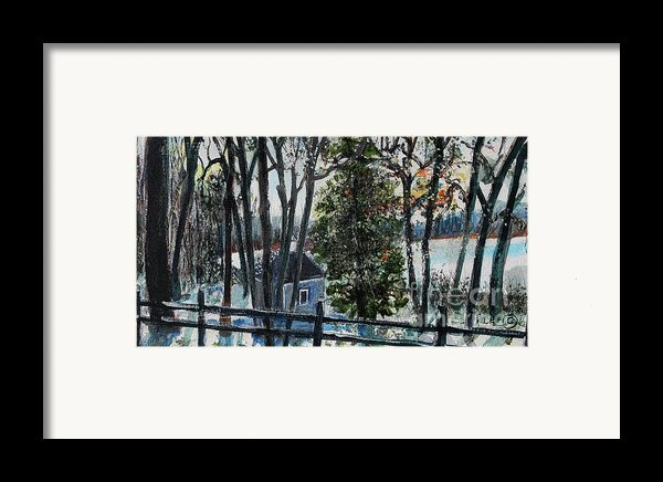 Out Of The Woods At Walden Pond Framed Print By Rita Brown