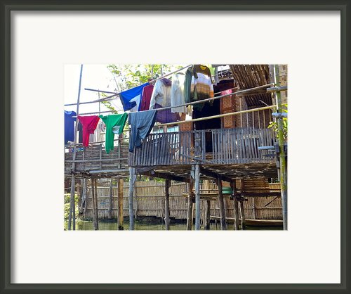 Out To Dry Framed Print By Christine  Hall