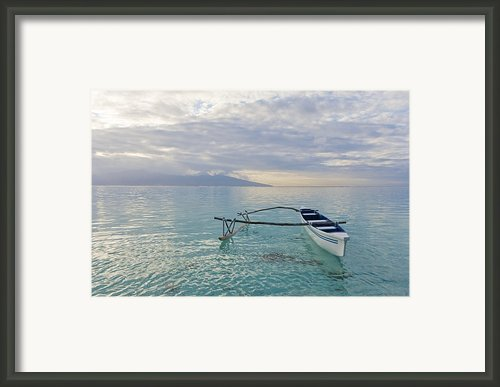 Outrigger Serenity Framed Print By M Swiet Productions