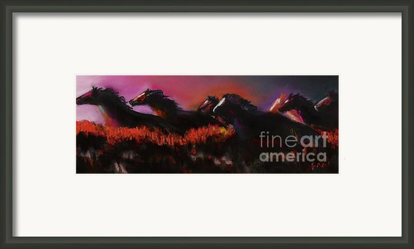 Outrunning The Storm Framed Print By Frances Marino