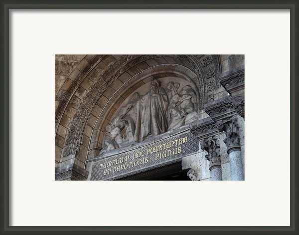 Outside The Basilica Of The Sacred Heart Of Paris - Sacre Coeur - Paris France - 011312 Framed Print By Dc Photographer