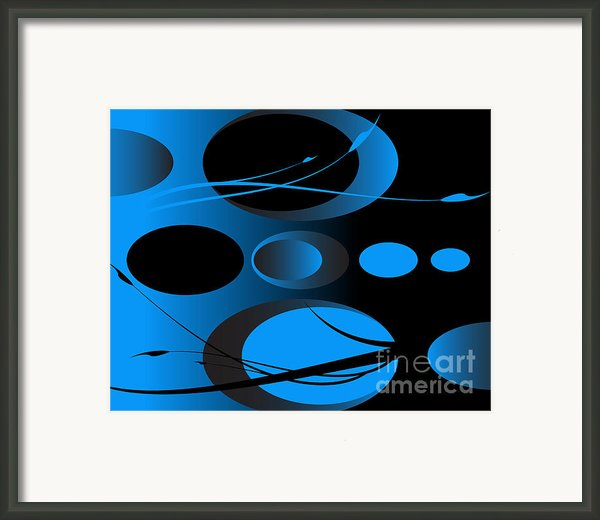 Oval Series 01 Framed Print By Ramon Martinez Jr