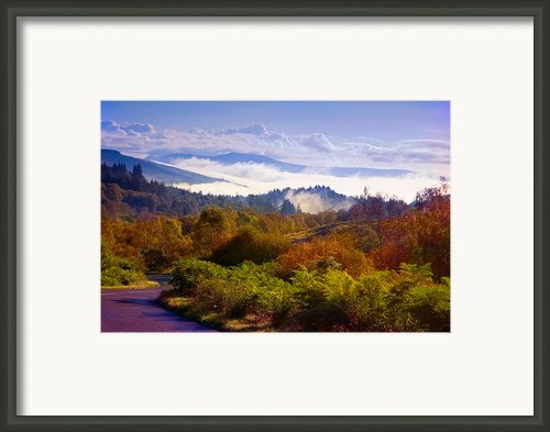 Over The Fog. Trossachs National Park. Scotland Framed Print By Jenny Rainbow
