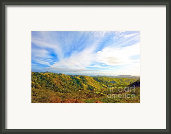 Overlooking Morro Bay Ca Framed Print By Artist And Photographer Laura Wrede