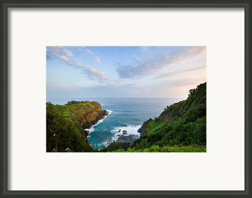 Overlooking Point Kilauea Lighthouse Framed Print By M Swiet Productions