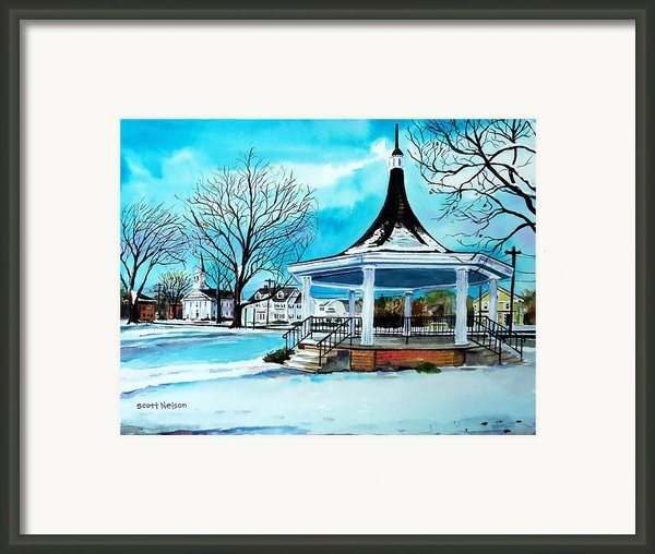 Oxford Bandstand Framed Print By Scott Nelson