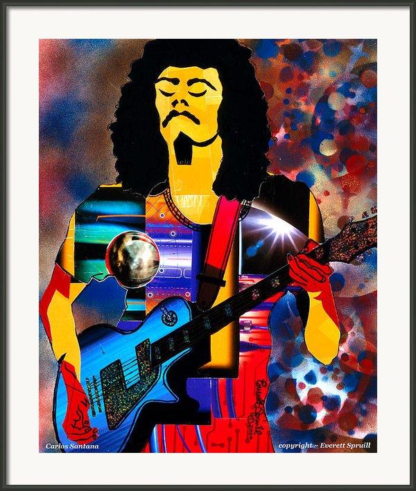 Oye Como Va Carlos Santana 2000 Framed Print By Everett Spruill