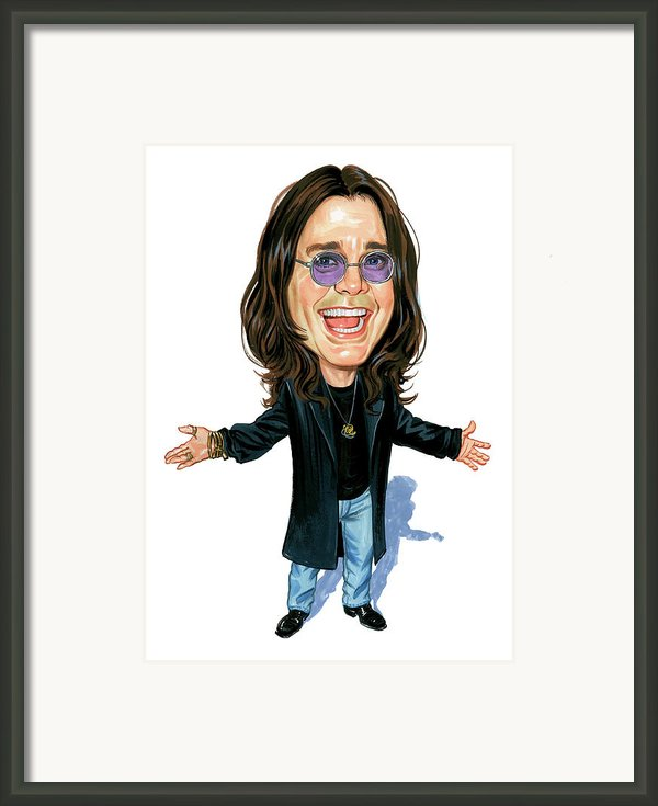 Ozzy Osbourne Framed Print By Art