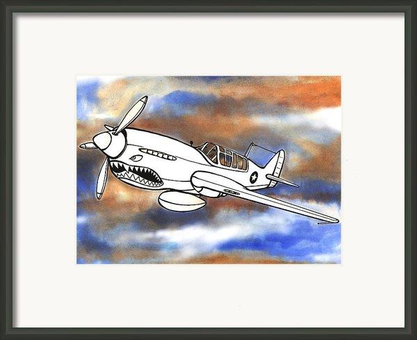 P-40 Warhawk 1 Framed Print By Scott Nelson