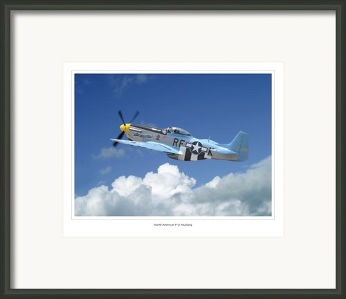 P-51 Mustang Framed Print By Larry Mcmanus