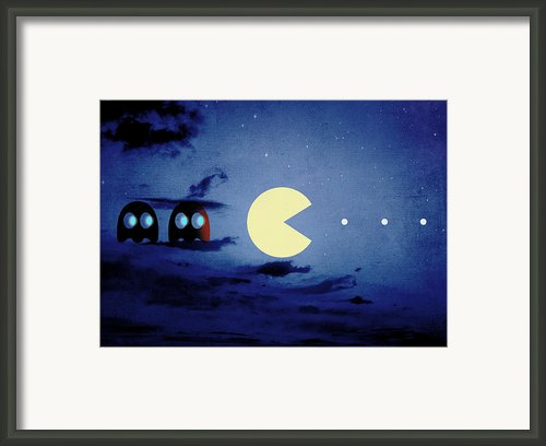 Pacman 2012 By Night Framed Print By Filippo B