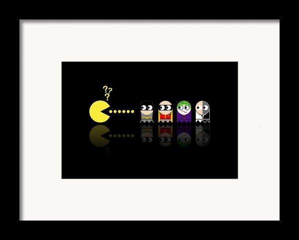 Pacman Batman Framed Print By Nicowriter