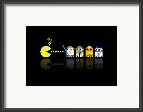 Pacman Star Wars - 3 Framed Print By Nicowriter