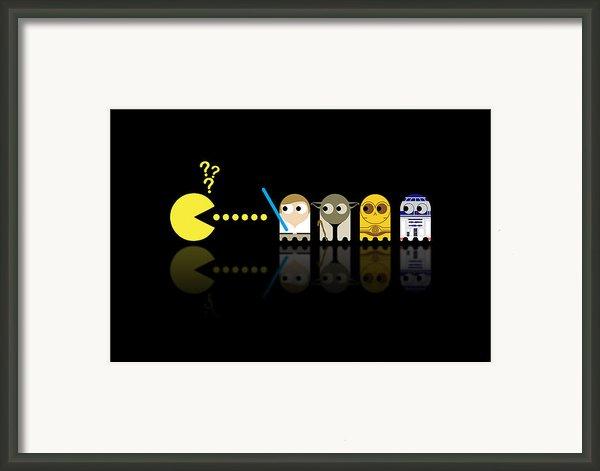 Pacman Star Wars - 3 Framed Print By Nicowriter