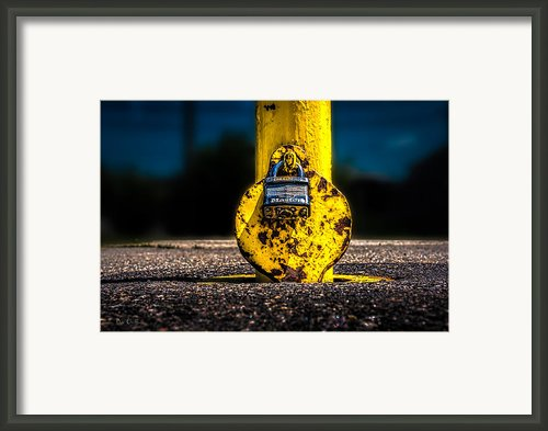 Padlock Number Two Framed Print By Bob Orsillo