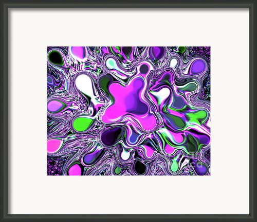 Paint Ball Color Explosion Purple Framed Print By Andee Photography