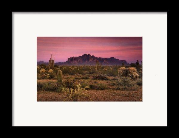 Paint It Pink Sunset  Framed Print By Saija  Lehtonen