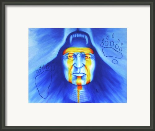 Painted Bear Framed Print By Robert Martinez