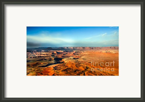 Painted Canyonland Framed Print By Robert Bales