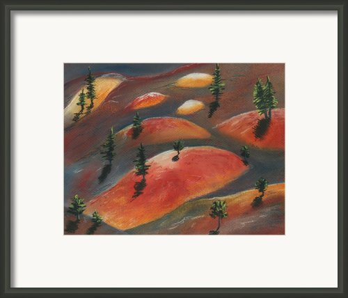 Painted Dunes Framed Print By Anastasiya Malakhova