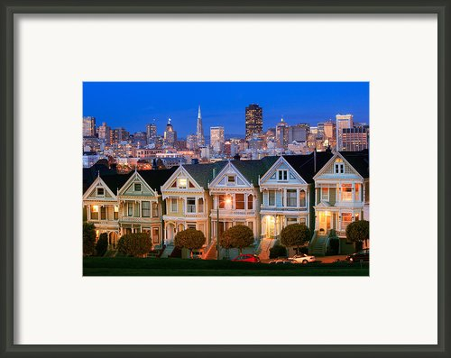 Painted Ladies Framed Print By Inge Johnsson