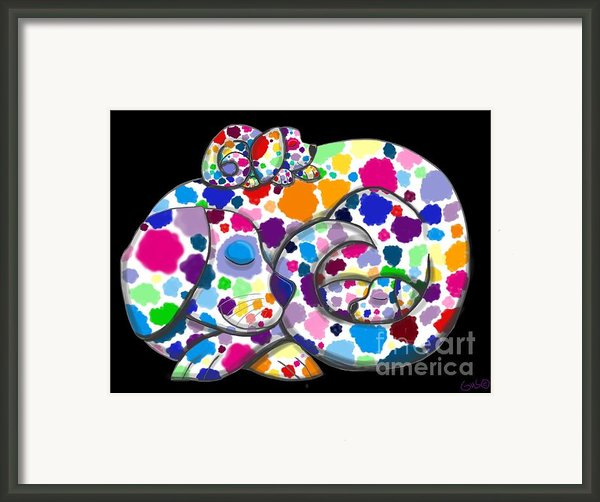 Painted Puppies Framed Print By Nick Gustafson