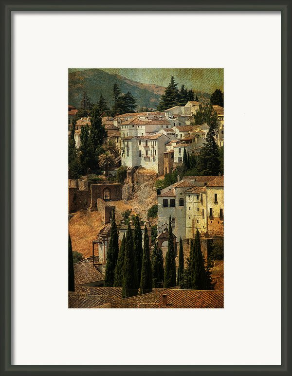 Painted Ronda. Spain Framed Print By Jenny Rainbow