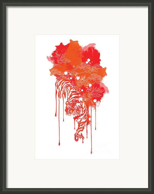 Painted Tiger Framed Print By Budi Satria Kwan