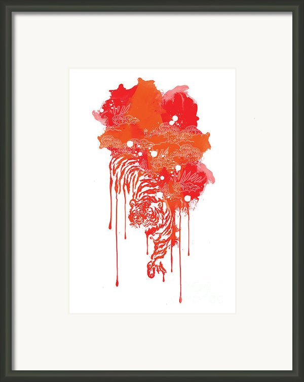 Painted Tiger Framed Print By Budi Satria Kwan