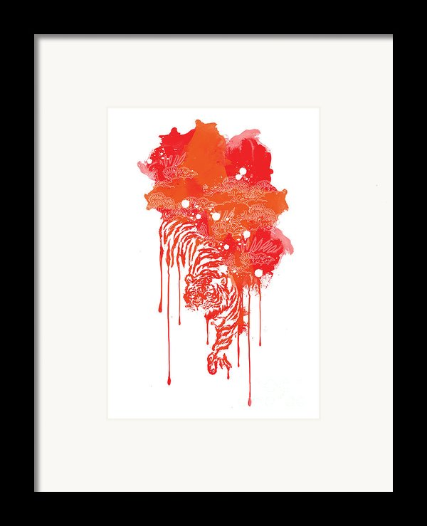 Painted Tiger Framed Print By Budi Kwan