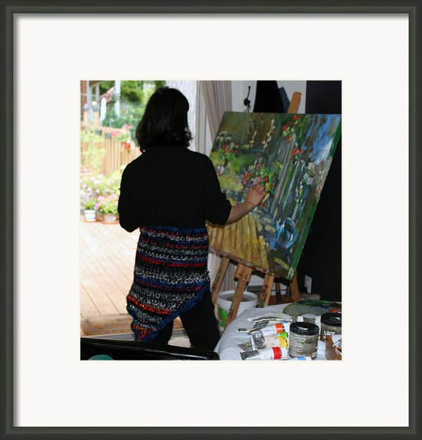 Painting My Backyard 1 Framed Print By Becky Kim