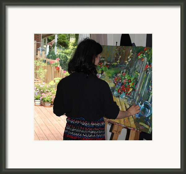 Painting My Backyard 2 Framed Print By Becky Kim