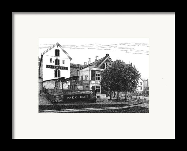 Pakkhuset Framed Print By Janet King