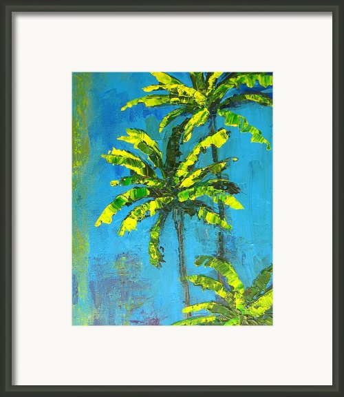 Palm Trees Framed Print By Patricia Awapara