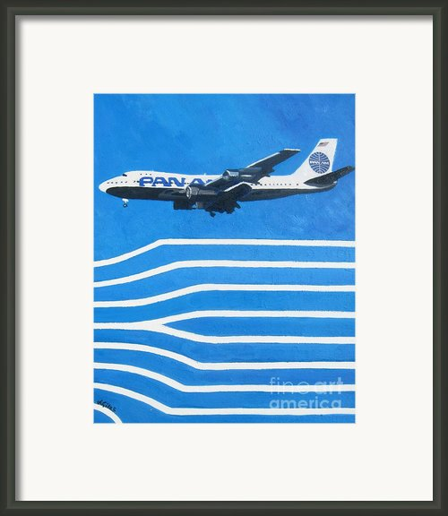 Pan Am Clipper Framed Print By Lesley Giles